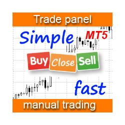 在MetaTrader市场购买MetaTrader 5的'Simple panel EA plus MT5' 交易工具